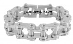 3/4  inches Wide  Industrial Satin Finish  Stainless Steel  Bike Chain Bracelet  for Men  FREE SHIPPING - Product Image