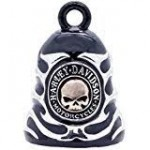 Harley-Davidson ® /Mod ®  Black Ride Bell ®  Chrome Flames  FREE SHIPPING  - Product Image