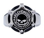 Harley-Davidson ®   Mod ®  Stainless Steel  Willie G. Men's  Gear Ring  Available in Sizes 9-14 - Product Image