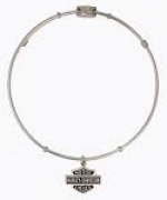 LEGENDS  BANGLE BRACELET  Harley-Davidson ®  Made by Mod ®  Ladies Dangle Bar and Shield Logo  - Product Image