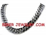 """3/4"""" Wide  Stainless Steel  Curb Link  Men's Necklace  24"""" FREE SHIPPING - Product Image"""