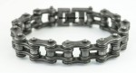 3/4  inches Wide  Industrial look  Stainless Steel  Bike Chain Bracelet  for Men  FREE SHIPPING - Product Image
