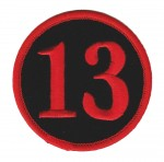 "13Biker Patch3"" x 3""FREE SHIPPING - Product Image"
