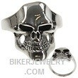 Stainless Steel  Joker  Biker Skull Ring  Sizes 9-15  FREE SHIPPING - Product Image