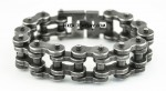 One Inch Wide  Industrial look  Stainless Steel  Bike Chain Bracelet  for Men  FREE SHIPPING - Product Image