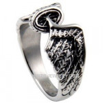 Women's  Stainless Steel  Winged Wheel  Classic Biker Ring  Sizes 5-10  FREE SHIPPING - Product Image