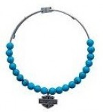 Legends  Harley-Davidson ®  By Mod ®  Bangle  Bracelet  Turquoise Looking Beads  Stainless Steel  HSB0083 - Product Image