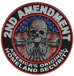 2nd AMENDMENT  Biker Patch  7 1/2  Inches Round  FREE SHIPPING - Product Image
