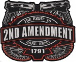 2nd AMENDMENT  Biker Patch  Available in 2 Sizes  FREE SHIPPING - Product Image