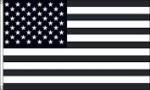 "3"" x 2"" Black / White AMERICAN FLAG - Product Image"
