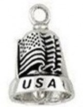 USA/Flag  Silver Ride Bell ® - Product Image