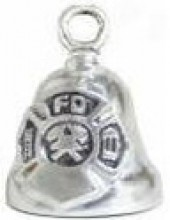 Firefighter  Motorcycle Ride Bell ®  Sterling Silver - Product Image