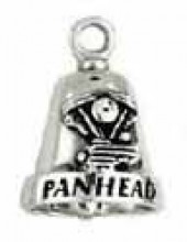 Pan Head  Sterling Silver  Motorcycle Ride Bell ® - Product Image