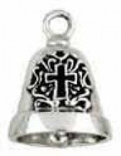 Sterling Silver  Ride Bell ®  Christian Cross - Product Image