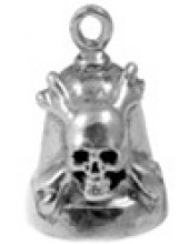 Sterling Silver Ride Bell ® Skull/Cross - Product Image