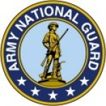 ARMY NATIONAL GUARD   Round Sticker  - Product Image