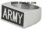 ARMY  Stainless Steel  Military Ring  Sizes 9-15  FREE SHIPPING - Product Image