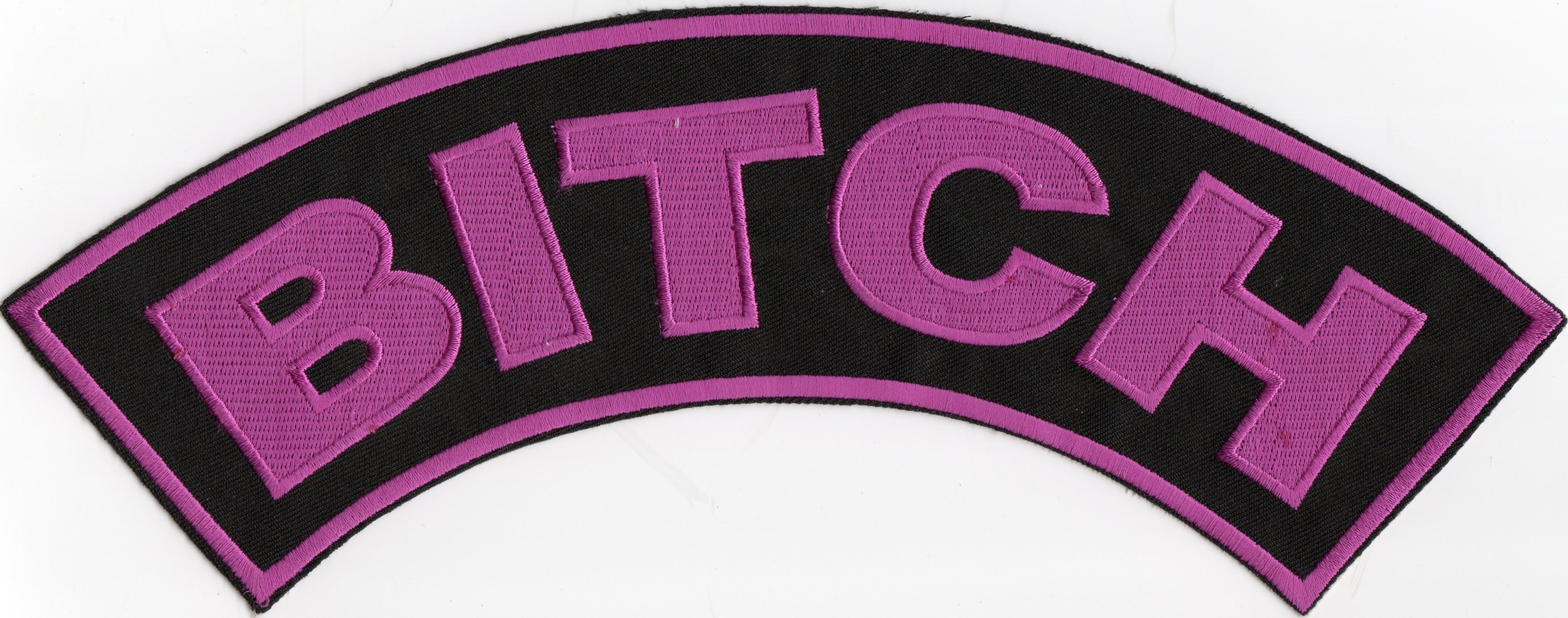 "BITCHTop Rocker Girl's Biker Patch11"" X 2 3/4 "" FREE SHIPPING - Product Image"