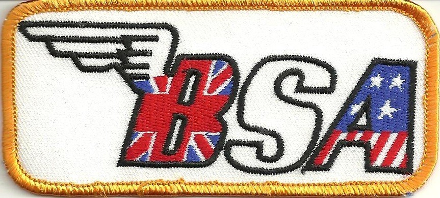 """BSA MotorcycleBiker Patch 2"""" x 4 1/4 """"  FREE SHIPPING - Product Image"""