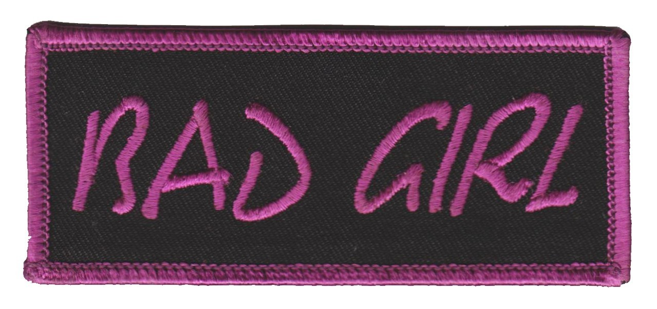 "Bad Girl Motorcycle Biker Patch1 3/4 "" x 4""FREE SHIPPING - Product Image"