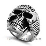 Big an Heavy Biker Skull Ring Stainless SteelSizes 9-14FREE SHIPPING - Product Image