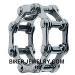 CLOSE OUT  Bike Chain  Stainless Steel Ring  Sizes 8-14  FREE SHIPPING - Product Image