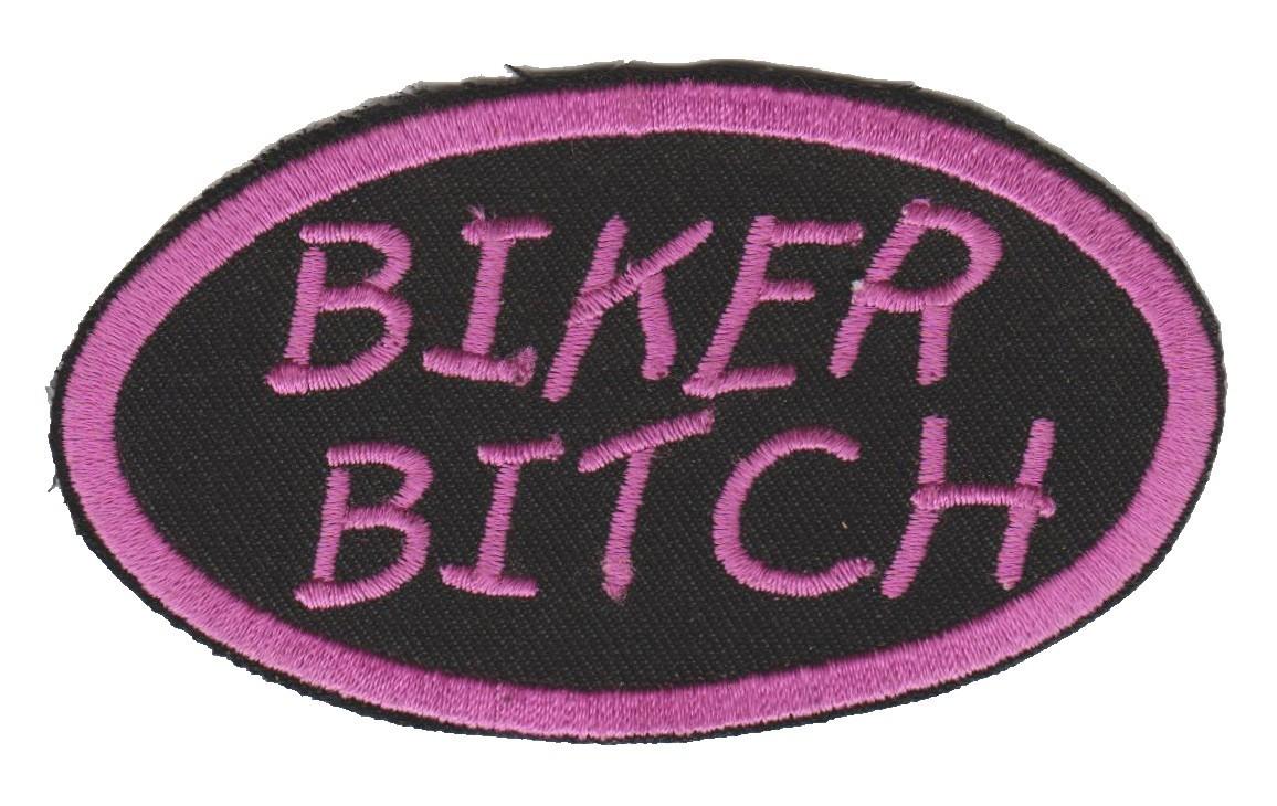 "Biker BitchBiker Patch3 1/2 "" x 2""FREE SHIPPING - Product Image"