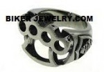 Brass Knuckles  Stainless Steel Ring  Sizes 8-13  FREE SHIPPING - Product Image