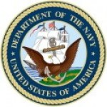 DEPARTMENT OF THE NAVY UNITED STATES OF AMERICA  Military Round Sticker - Product Image