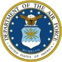DEPARTMENT OF THE AIR FORCE UNITED STATES OF AMERICA  Military Sticker - Product Image