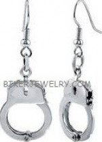 Dangling Earrings  Handcuff Design  Stainless Steel  FREE SHIPPING - Product Image