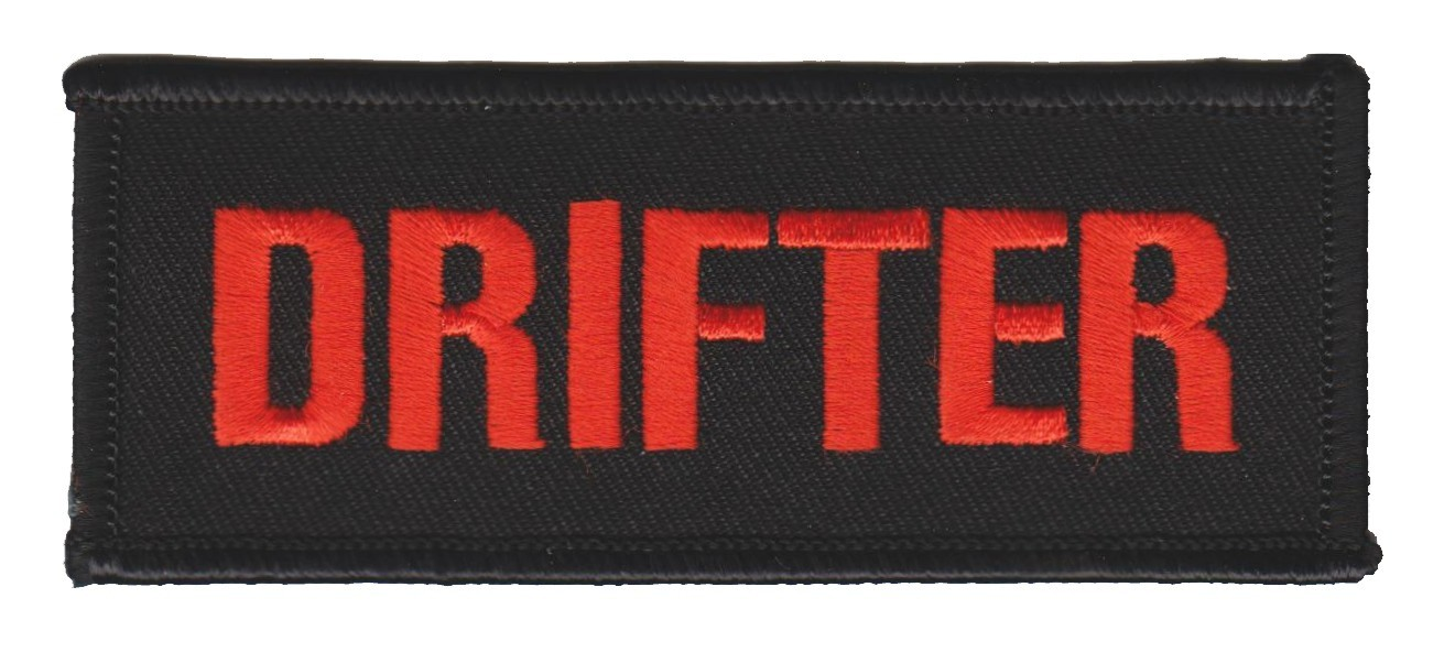"Drifter Biker Patch 1 1/2 "" x 4""FREE SHIPPING - Product Image"