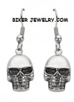EARRINGS  Stainless Steel  Dangleing Skull  FREE SHIPPING - Product Image