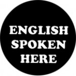 ENGLISH SPOKEN HERE - Product Image
