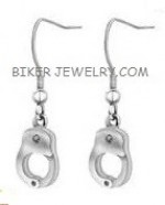 Earrings  Stainless Steel  Small Handcuff  FREE SHIPPING - Product Image
