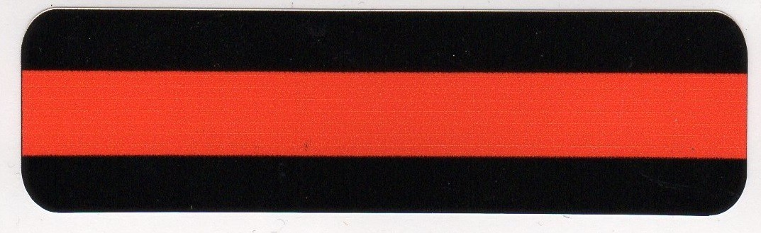 FIREFIGHTER  RED Strip Helmet Sticker - Product Image