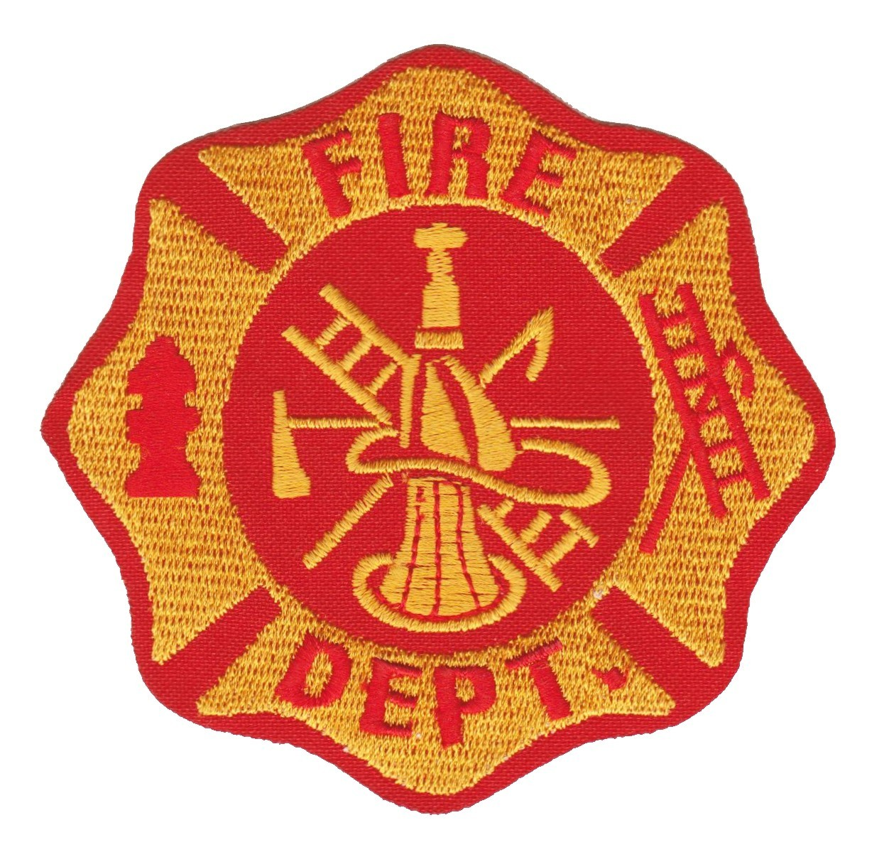 "Fire Department Biker Patch3 3/4 "" x 3 3/4 ""FREE SHIPPING - Product Image"