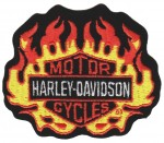 """Flaming Harley-Davidson ® Harley ® Patch3 1/2 """" x 3""""FREE SHIPPING - Product Image"""