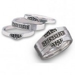 Franklin Mint  Harley-Davidson ®  Sterling Silver Stacking Ring Ladies - Product Image