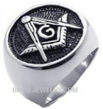 Masons Ring  Stainless Steel  Sizes 8-13  FREE SHIPPING - Product Image