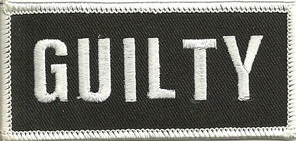 """GUILTYBiker Patch3 1/2 """" x 2""""Available in 2 ColorsFREE SHIPPING - Product Image"""
