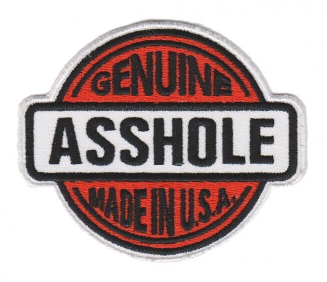Genuine asshole sticker