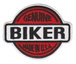 "Genuine Biker Made In USA  Biker Patch3 3/4 "" x 2 3/4 ""FREE SHIPPING - Product Image"