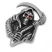 Grim Reaper With Red Crystal Eyes