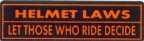 HELMET LAWS- LET THOSE WHO RIDE DECIDE - Product Image