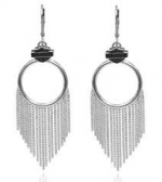 Harley-Davidson ®  Sterling Silver  Ladies Earrings - Product Image
