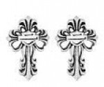 Women's  Harley-Davidson ®  Sterling Silver  Cross Post Earrings - Product Image