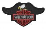 "Harley-Davidson ® Eagle LogoHarley Patch5 1/2 "" x 3""FREE SHIPPING - Product Image"
