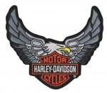 "Harley-Davidson ® Eagle and Shield Harley Patch5 1/2 "" x 6""FREE SHIPPING - Product Image"