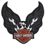 "Harley-Davidson ®Flaming EagleHarley ® Patch6"" x 6""FREE SHIPPING - Product Image"